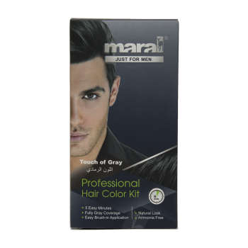 کیت رنگ موی مردانه مارال مدل Touch of Gray حجم 100 میلی لیتر بسته 2 عددی