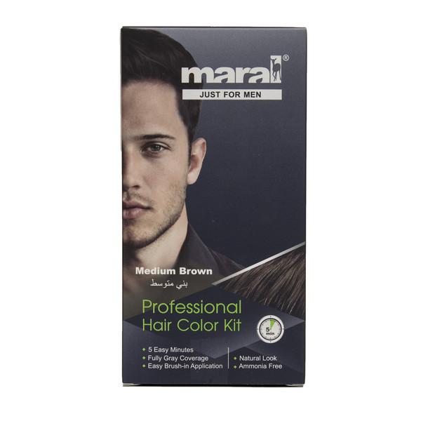 کیت رنگ موی مردانه مارال مدل Medium Brown حجم 100 میلی لیتر بسته 2 عددی