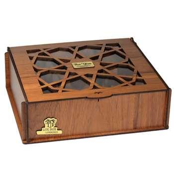 جعبه هدیه دمنوش چایی کیسه ای لوکس باکس کد LB031.1