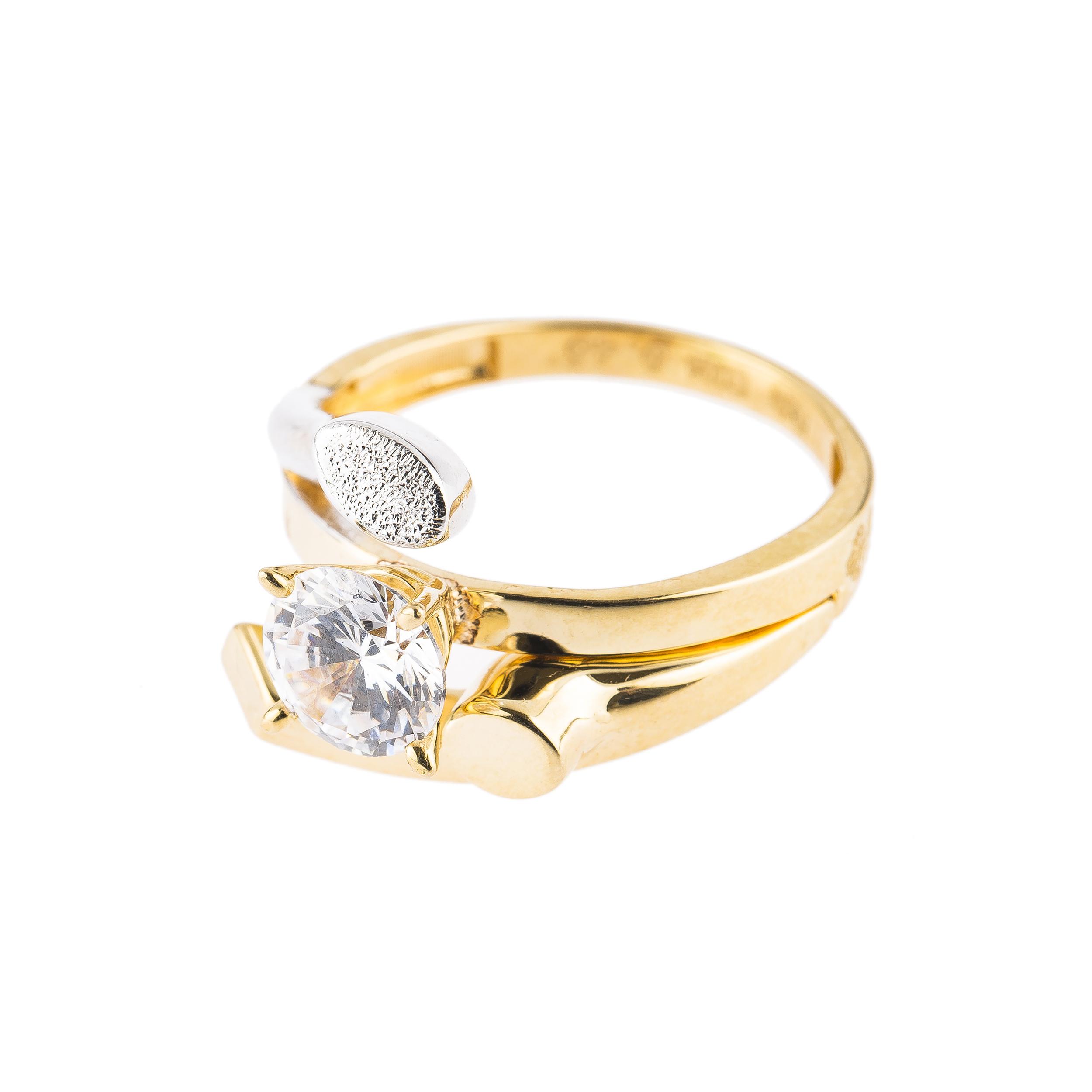 قیمت انگشتر طلا 18 عیار کد 6025