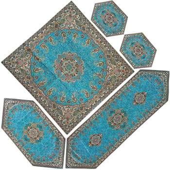 ست رومیزی ترمه ابریشم طرح ونوس کد 01 مجموعه 5 عددی