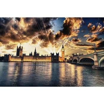 تابلو شاسی سری زیباترین عکس های جهان طرح برج بیگ بن لندن کد 158