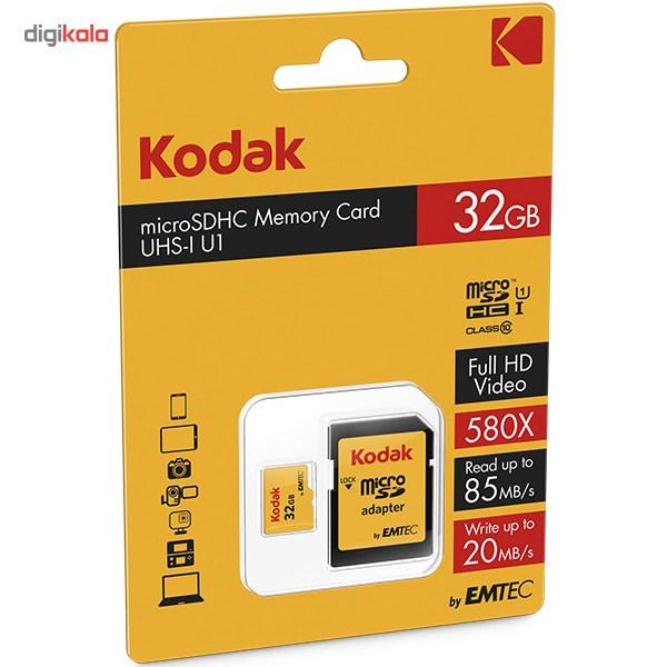 کارت حافظه microSDHC امتک کداک کلاس 10 استاندارد UHS-I U1 سرعت 85MBps 580X همراه با آداپتور SD ظرفیت 32 گیگابایت main 1 4