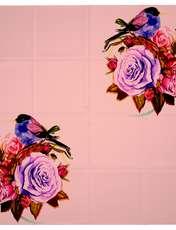 روسری زنانه 27 طرح پرنده و گل کد H06 -  - 4