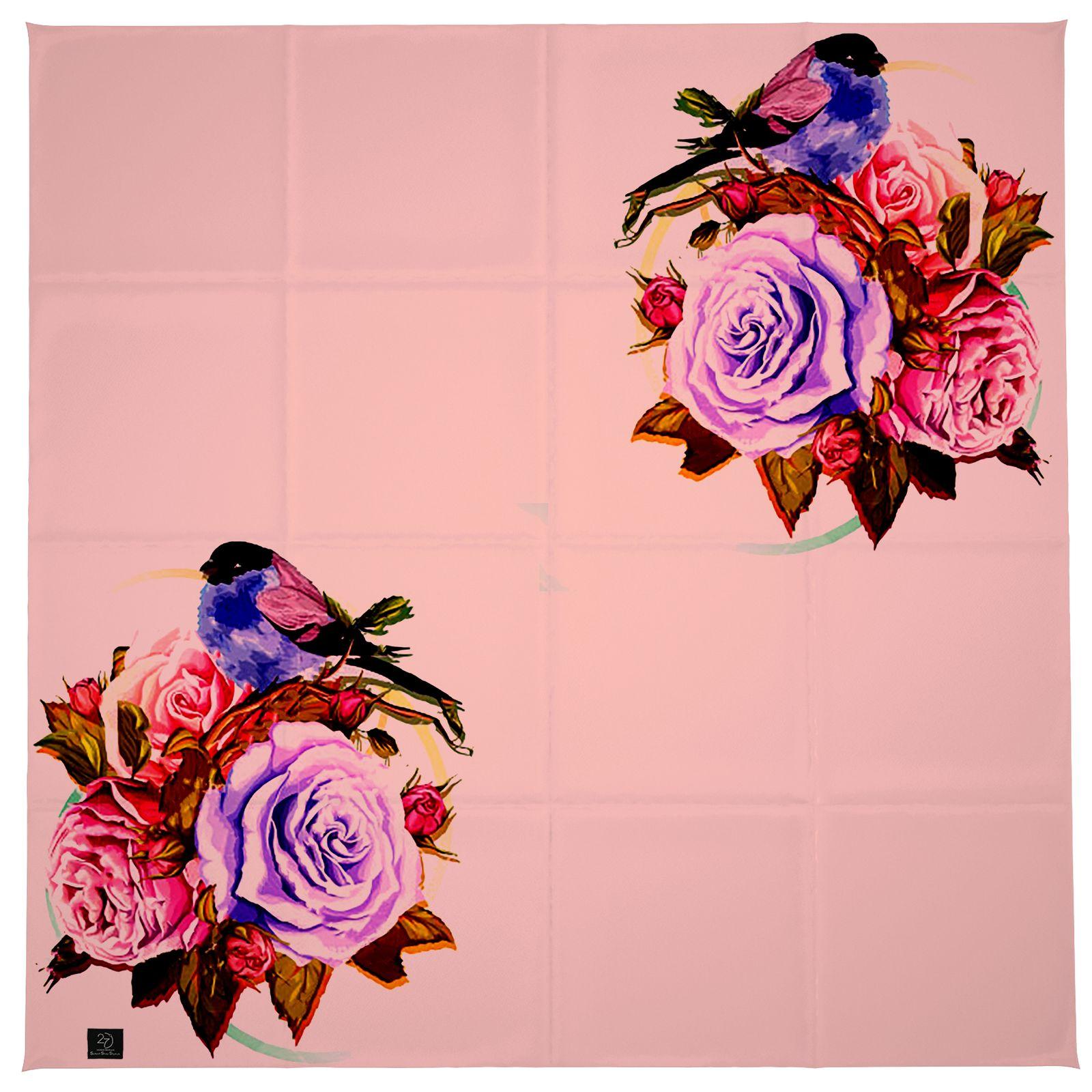 روسری زنانه 27 طرح پرنده و گل کد H06 -  - 5