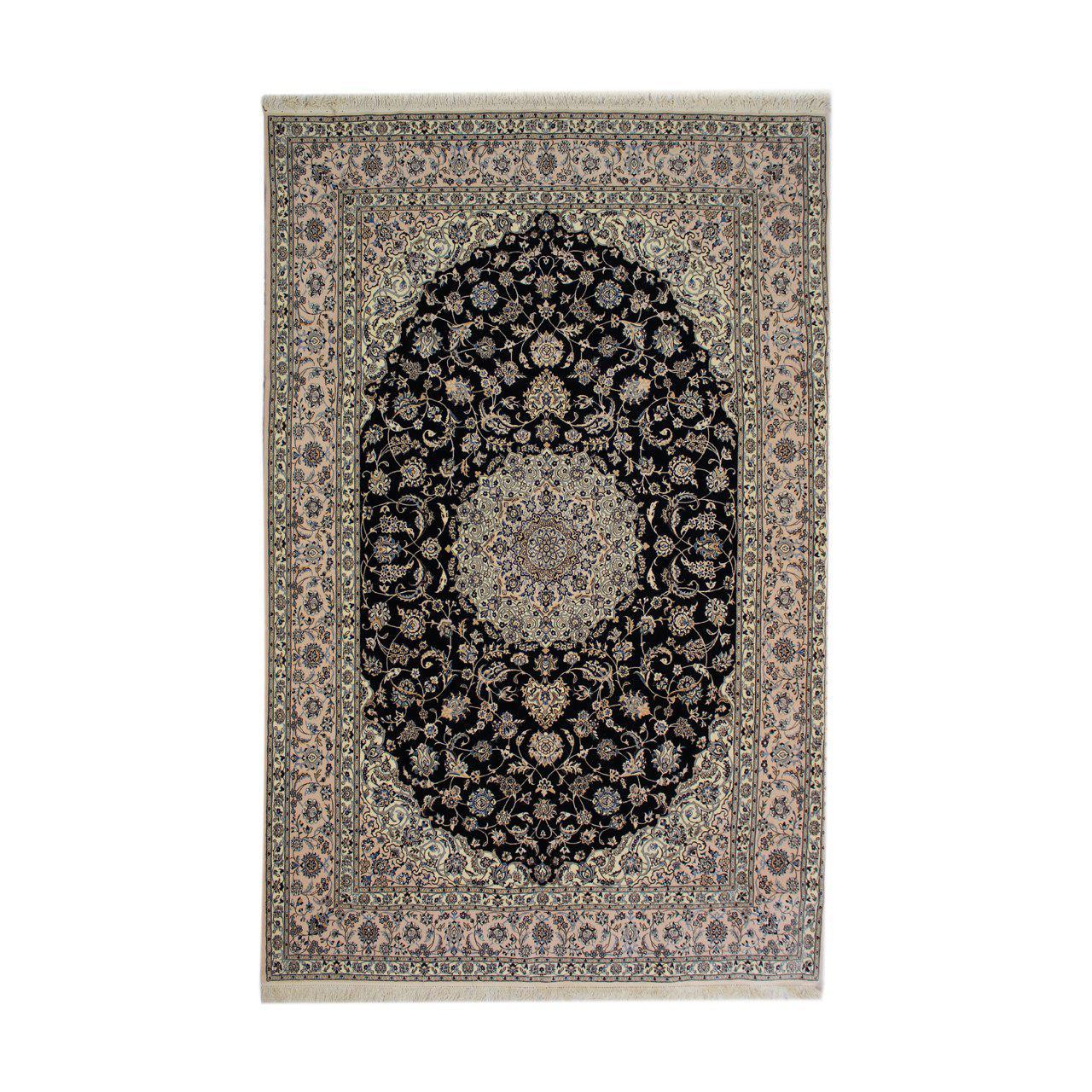 فرش دستبافت طرح نایین شش لا شش متری  کد 1104493