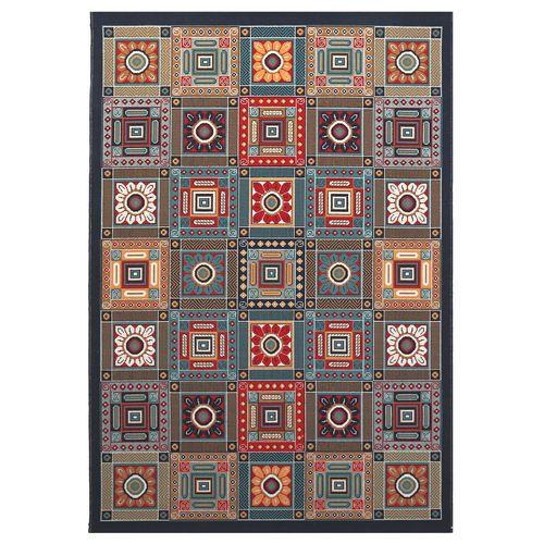 گلیم ماشینی دنیای فرش طرح آنتیک کد 152