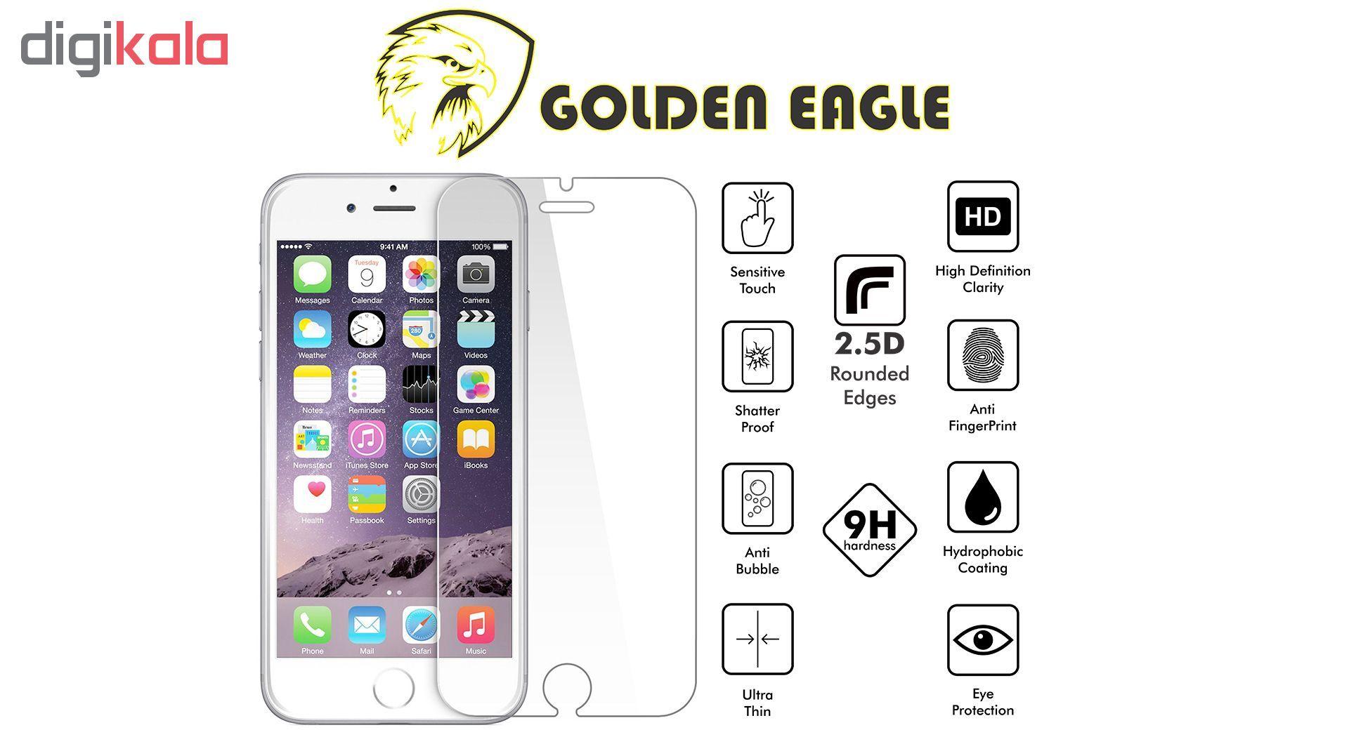 محافظ صفحه نمایش گلدن ایگل مدل Brilliant Shield مناسب برای گوشی اپل آیفون 7/8 پلاس main 1 2