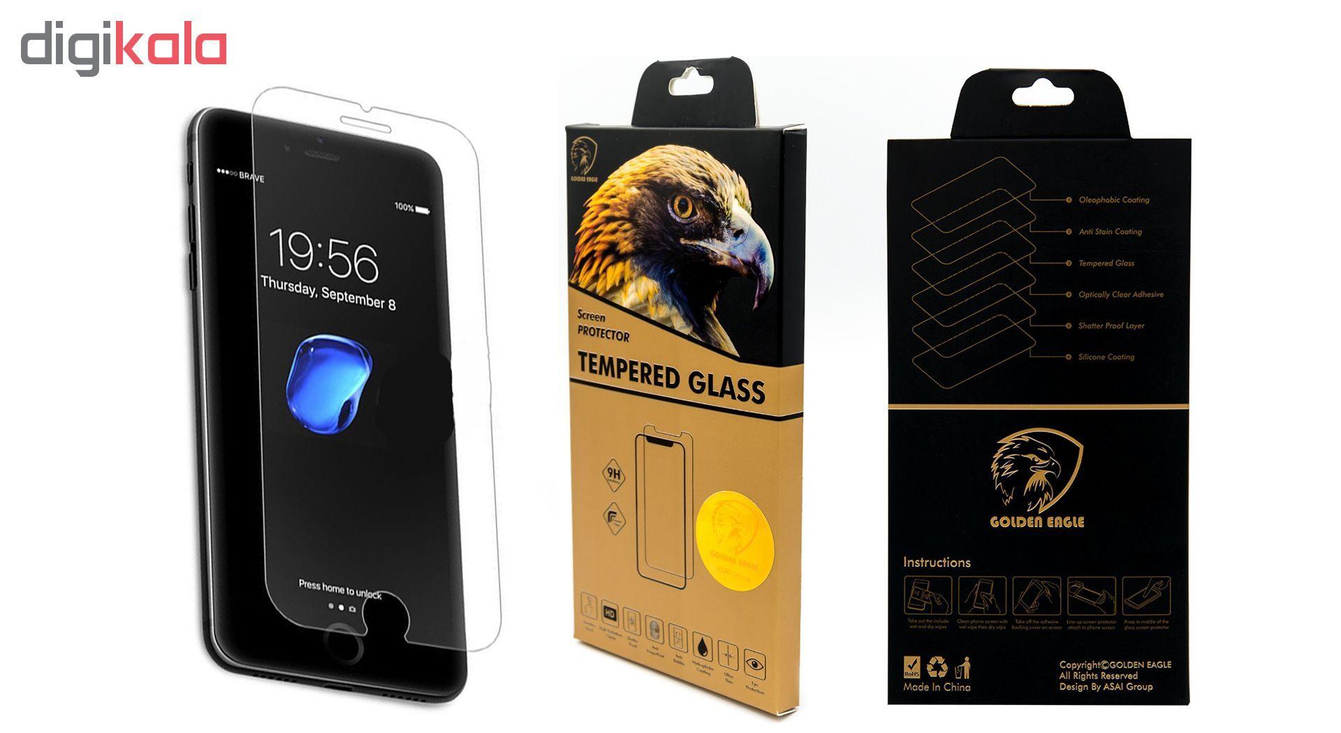 محافظ صفحه نمایش گلدن ایگل مدل Brilliant Shield مناسب برای گوشی اپل آیفون 7/8 main 1 5