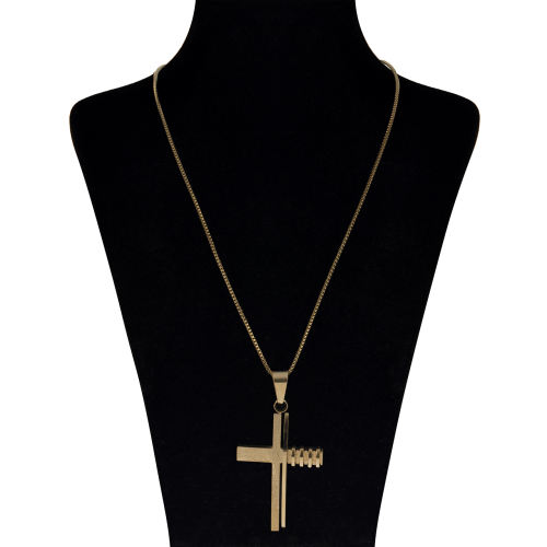گردنبند بهارگالری طرح صلیب مدل Fantasy Cross کد 202049