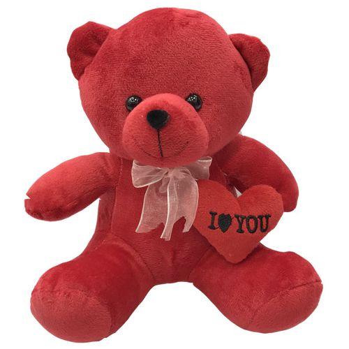 عروسک طرح خرس قلب بدست عاشق کد 66 ارتفاع 25 سانتی متر