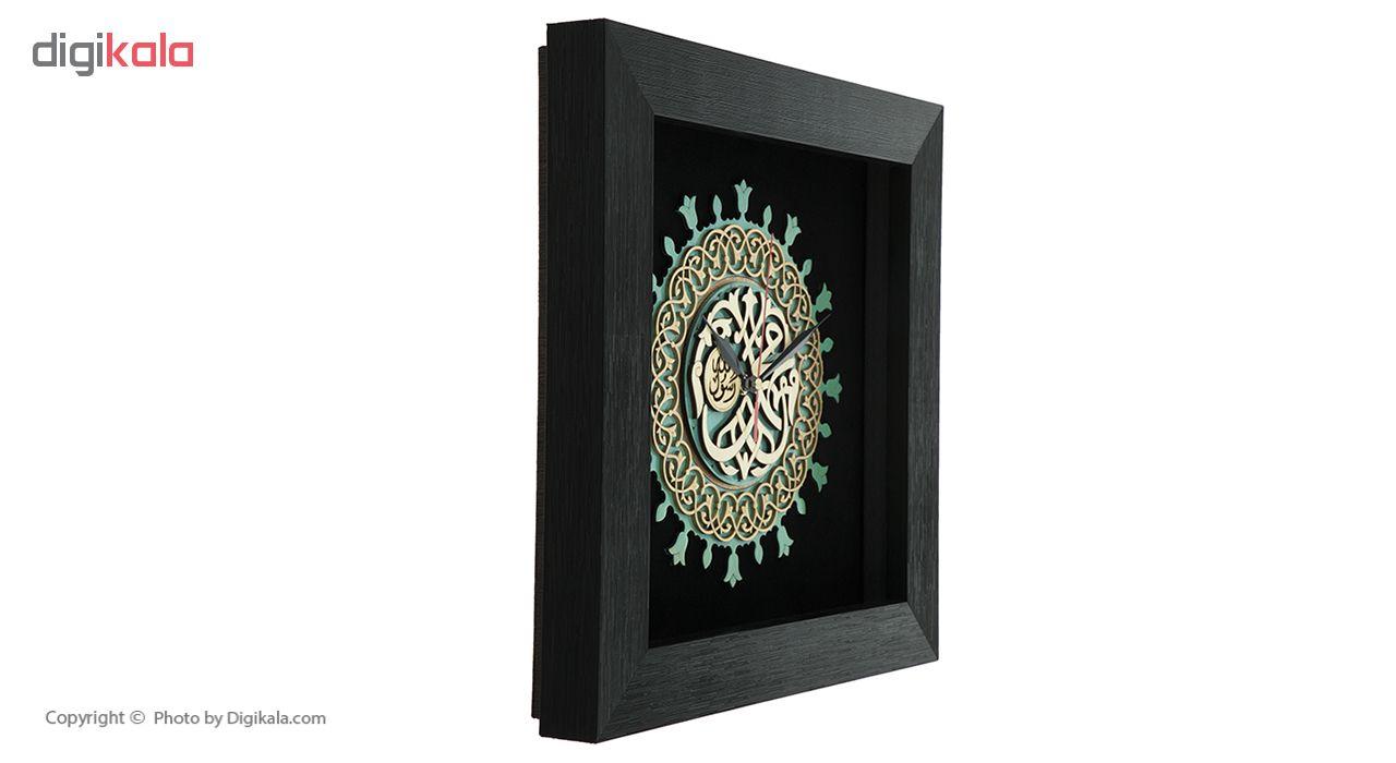 خرید                      ساعت معرق هُم آدیس طرح خوشنويسي محمد رسول الله (ص) کد TJ 031