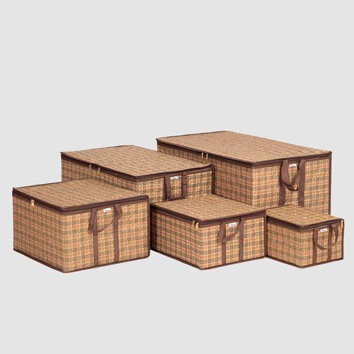 ست ساک لباس هومتکس طرح مربع کد 5BH مجموعه 5 عددی