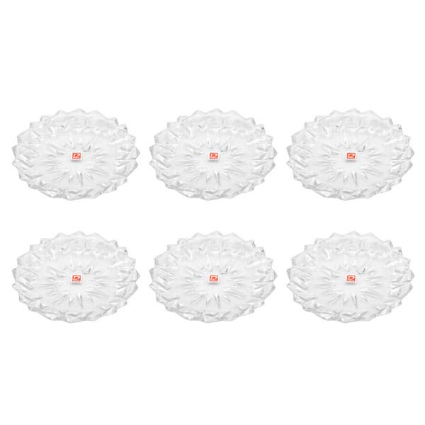 پیش دستی شیشه و بلور اصفهان نوبل مدل مانیسا  505 بسته 6 عددی