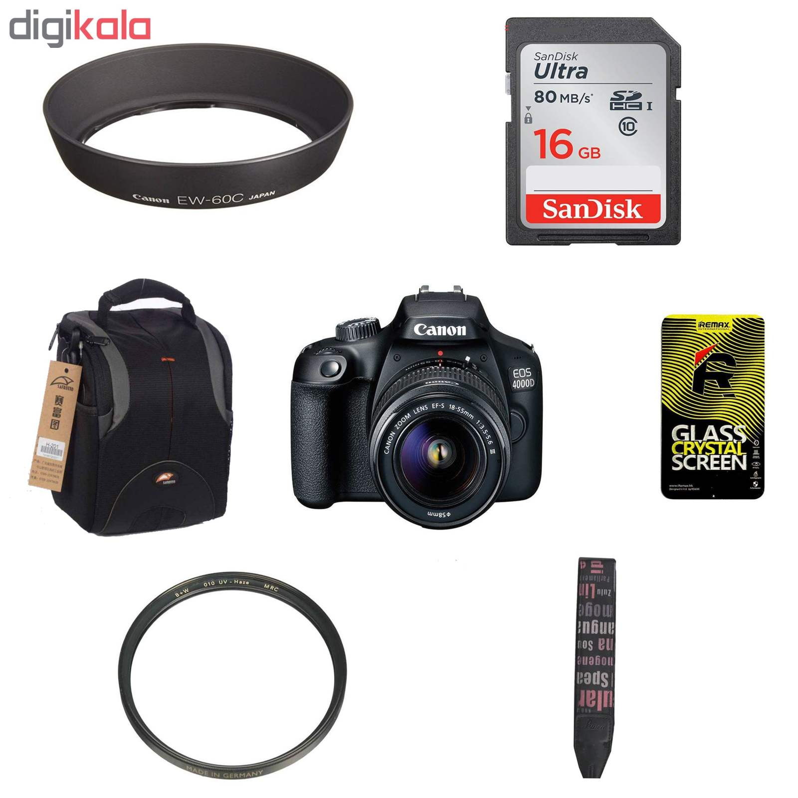 دوربین دیجیتال کانن مدل EOS 4000D به همراه لنز 18-55 میلی متر DC III و لوازم جانبی main 1 1