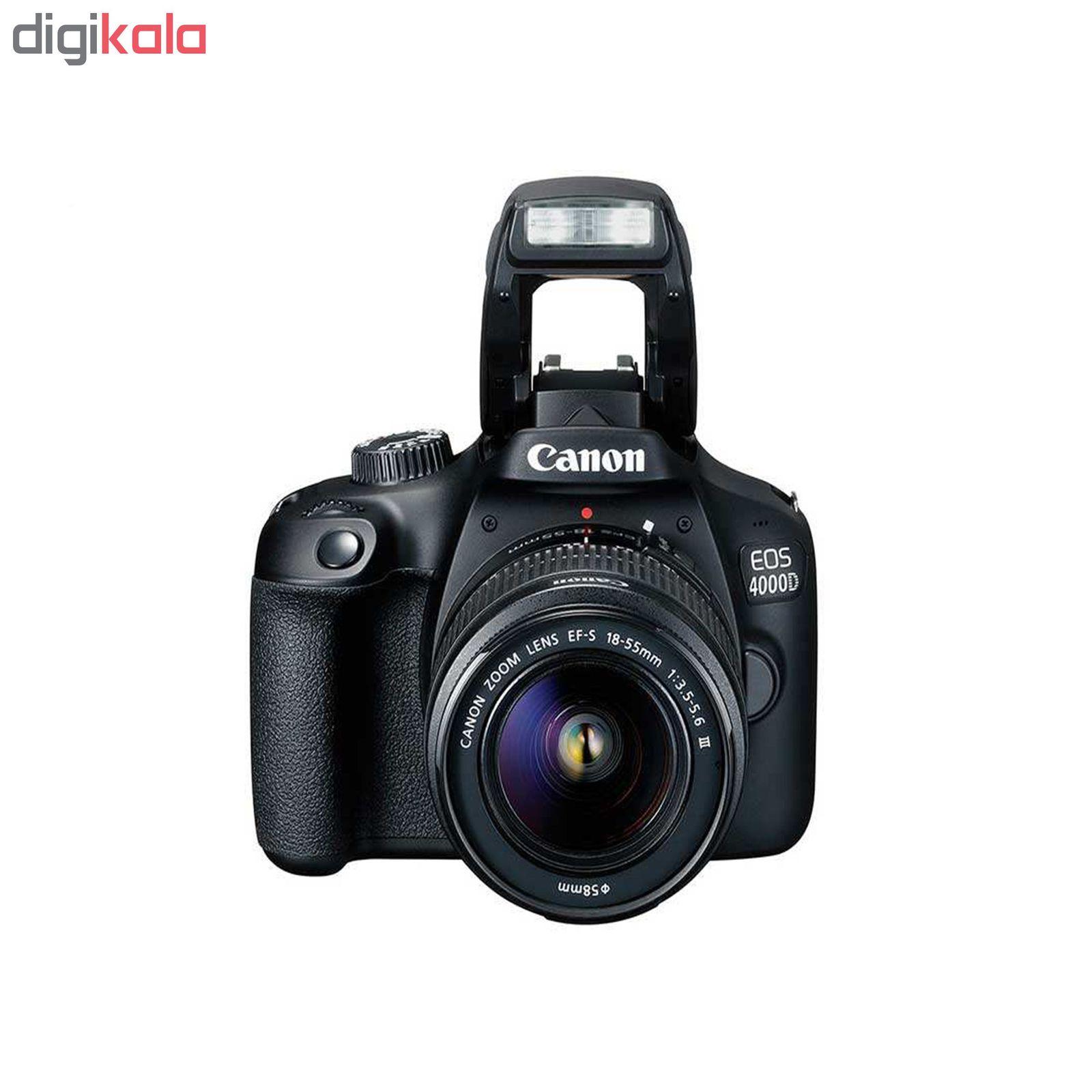 دوربین دیجیتال کانن مدل EOS 4000D به همراه لنز 18-55 میلی متر DC III و لوازم جانبی main 1 2