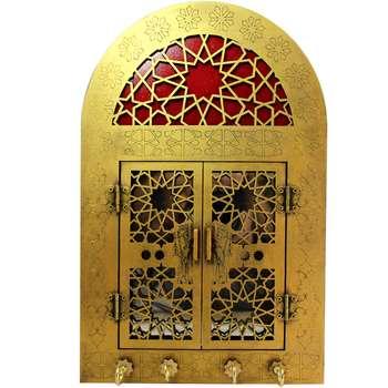 جاکلیدی و آینه دست نگار طرح درب سنتی کد 11-21 |