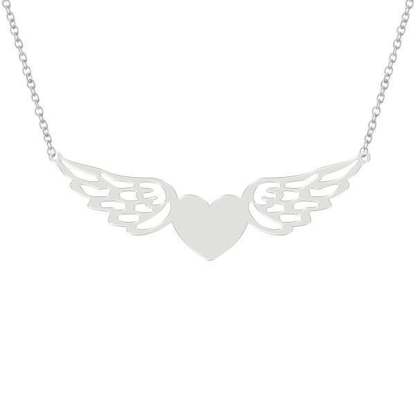 گردنبند زنانه ترمه ۱ مدل قلب و بال فرشته