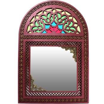 آینه دست نگار طرح پنجره سنتی رنگی کد 13-21 |