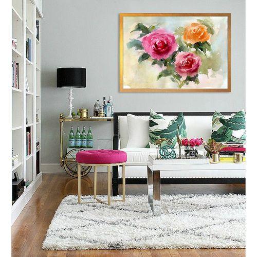 تابلو  طرح گل رز رنگارنگ کد AX14184