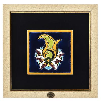 Photo of تابلو کاشی هفت رنگ گروه هنری گنجینه میراث طرح بته جقه