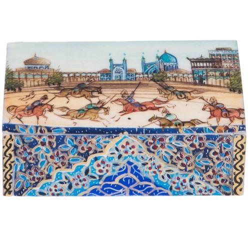 جعبه استخوانی اثر بهشتی مدل  کبریتی طرح میدان نقش جهان اصفهان