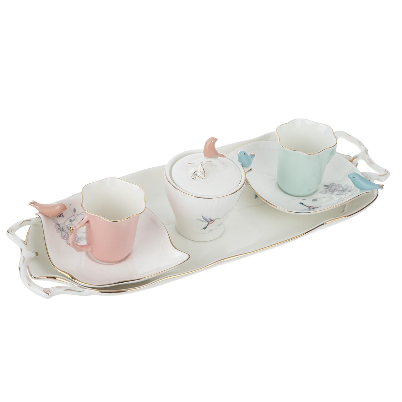 عکس سرویس چای خوری 6 پارچه بی.وی.کی مدل VK611305