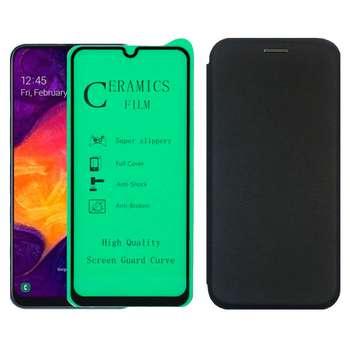 کیف کلاسوری بلوفاکس مدل BMGNT-CER1 مناسب برای گوشی موبایل سامسونگ Galaxy A50\A50S\A30S به همراه محافظ صفحه نمایش