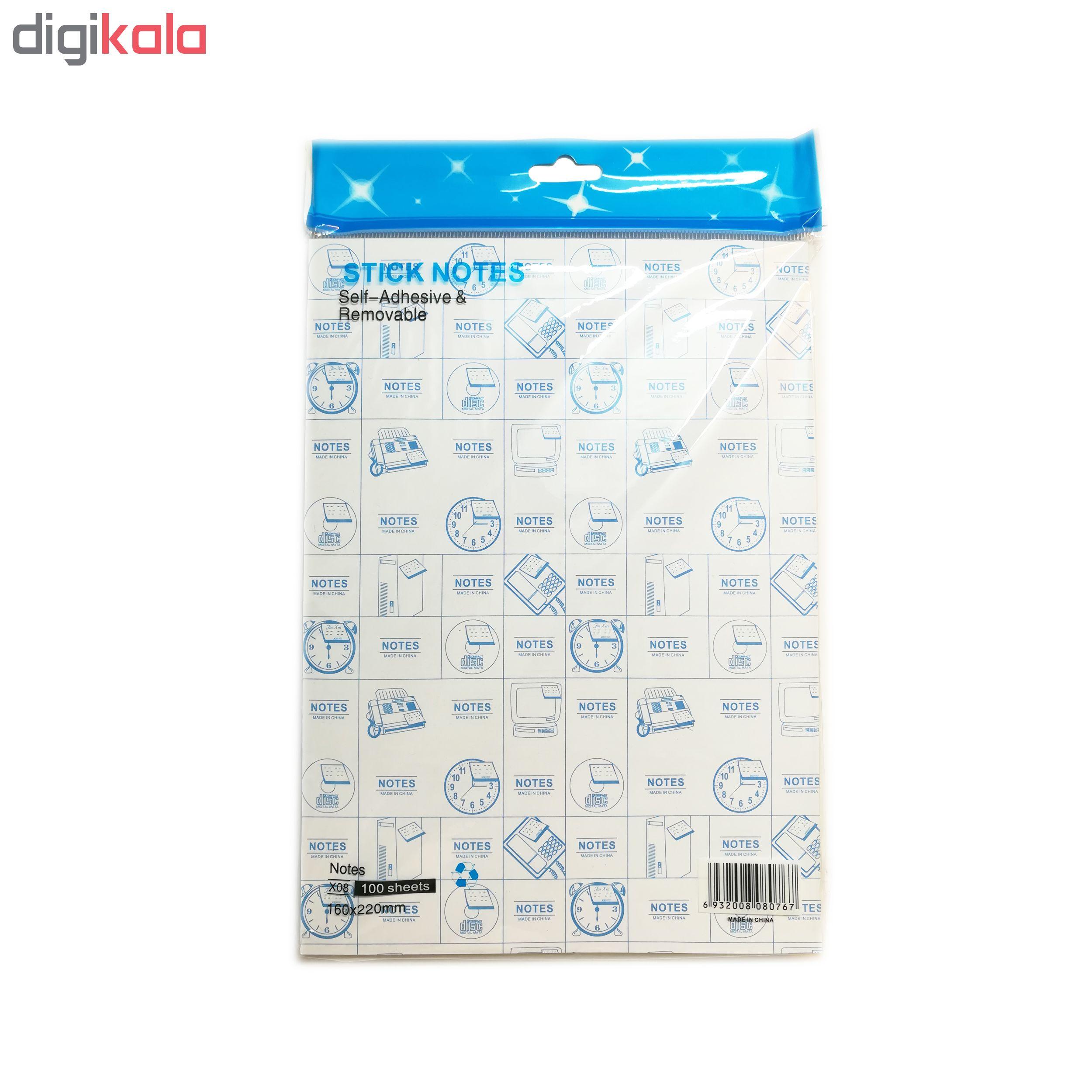 کاغذ یادداشت پشت چسبدار طرح استیک نوک  سایز A5 main 1 3