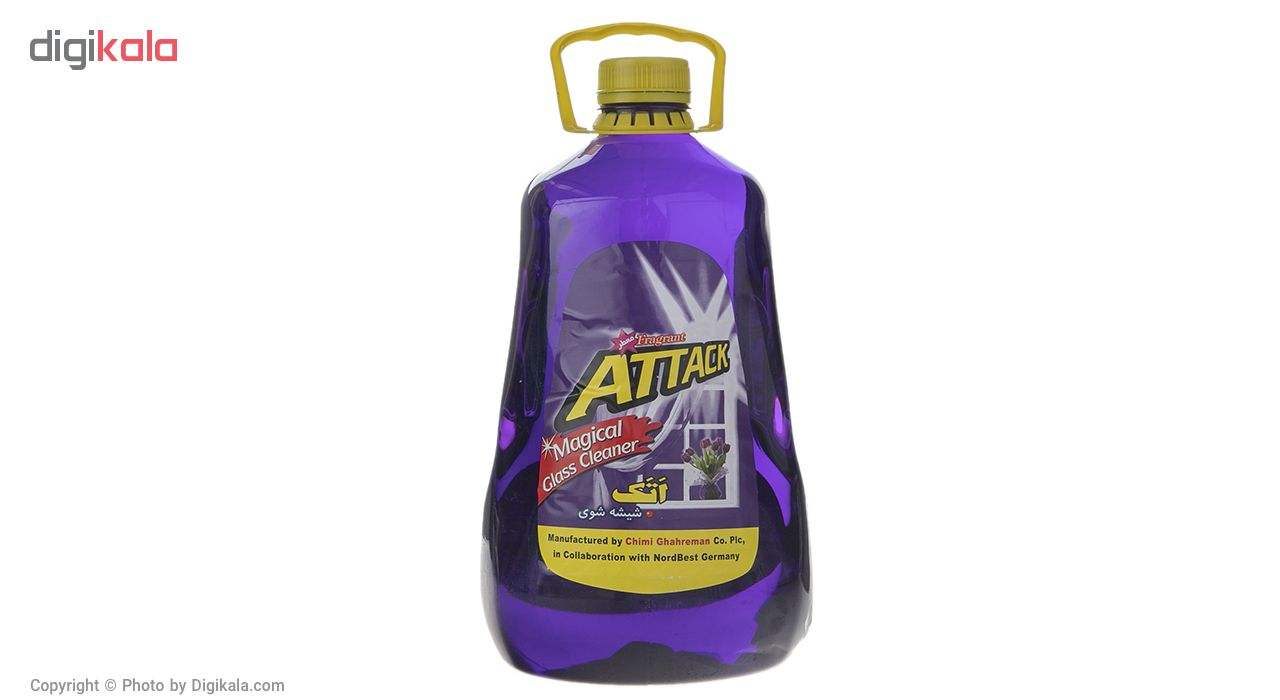 شیشه پاک کن اتک مدل Purple حجم 4 لیتر