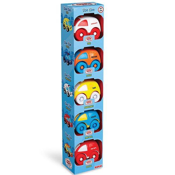مجموعه 5 تایی ماشین بازی دولو  مدل غول های کوچولو کد 5042
