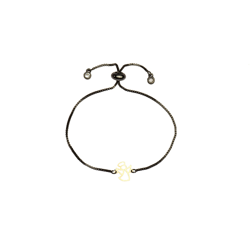 دستبند طلا 18 عیار زنانه کرابو طرح فرشته مدل Kr1072