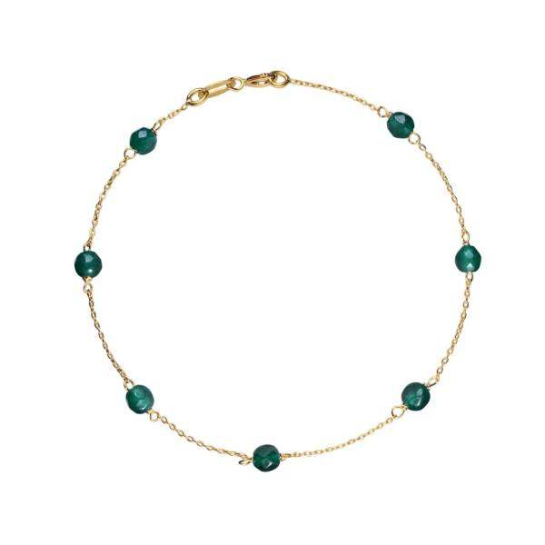دستبند طلا 18 عیار گالری مرجان مدل 0879
