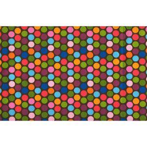 دستمال سفره کتان 36 × 36 رزین تاژ طرح خالدار رنگی