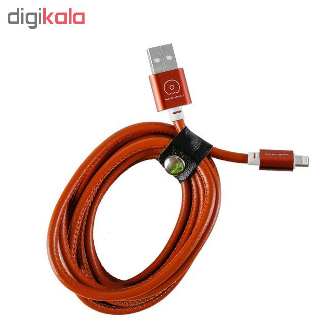 کابل تبدیل USB به microUSB دبلیو یو دبلیو مدل x01 طول 1 متر main 1 3