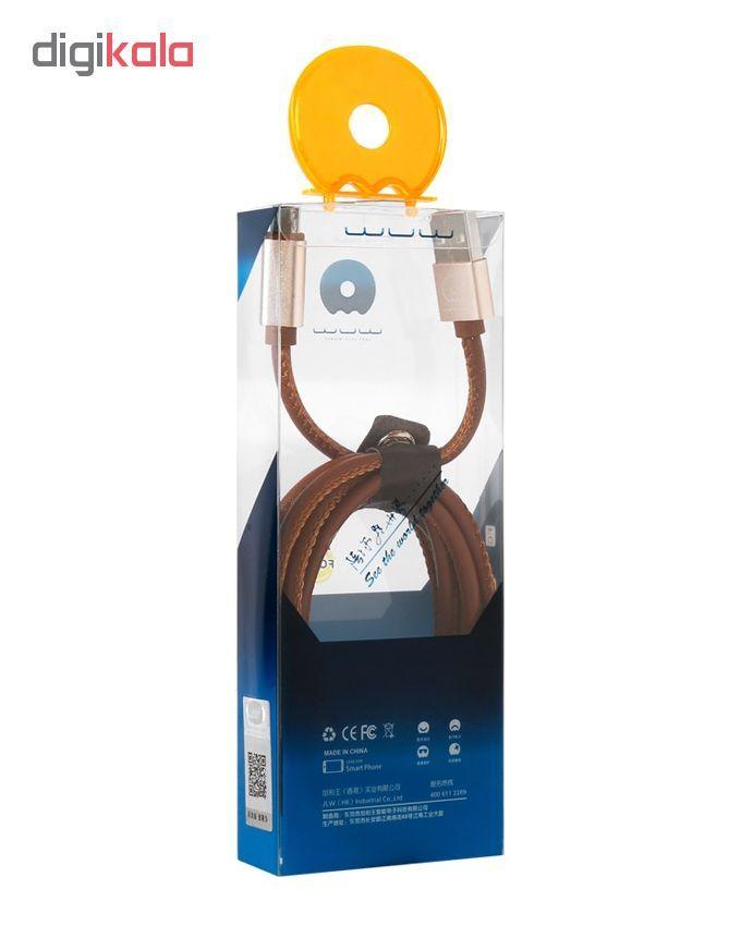 کابل تبدیل USB به microUSB دبلیو یو دبلیو مدل x01 طول 1 متر main 1 4