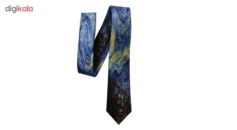 کراوات مردانه طرح شب پرستاره ونگوگ