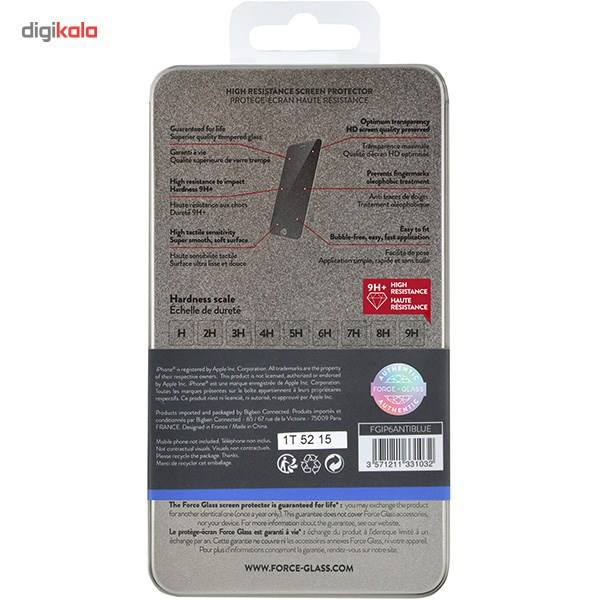محافظ صفحه نمایش شیشه ای فورس گلس مدل Anti-Blue مناسب برای گوشی موبایل آیفون 6/6s main 1 3