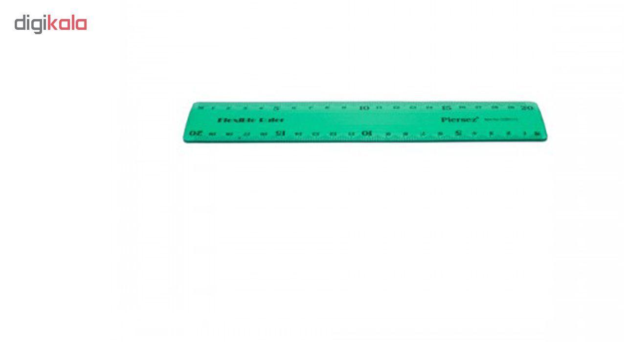 خط کش 20 سانتی پیرسز مدل ژله ای بسته 2 عددی main 1 1
