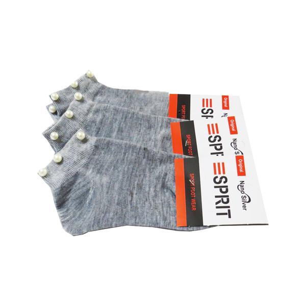 جوراب زنانه اسپریت طرح مروارید کد SK-002 بسته 3 عددی