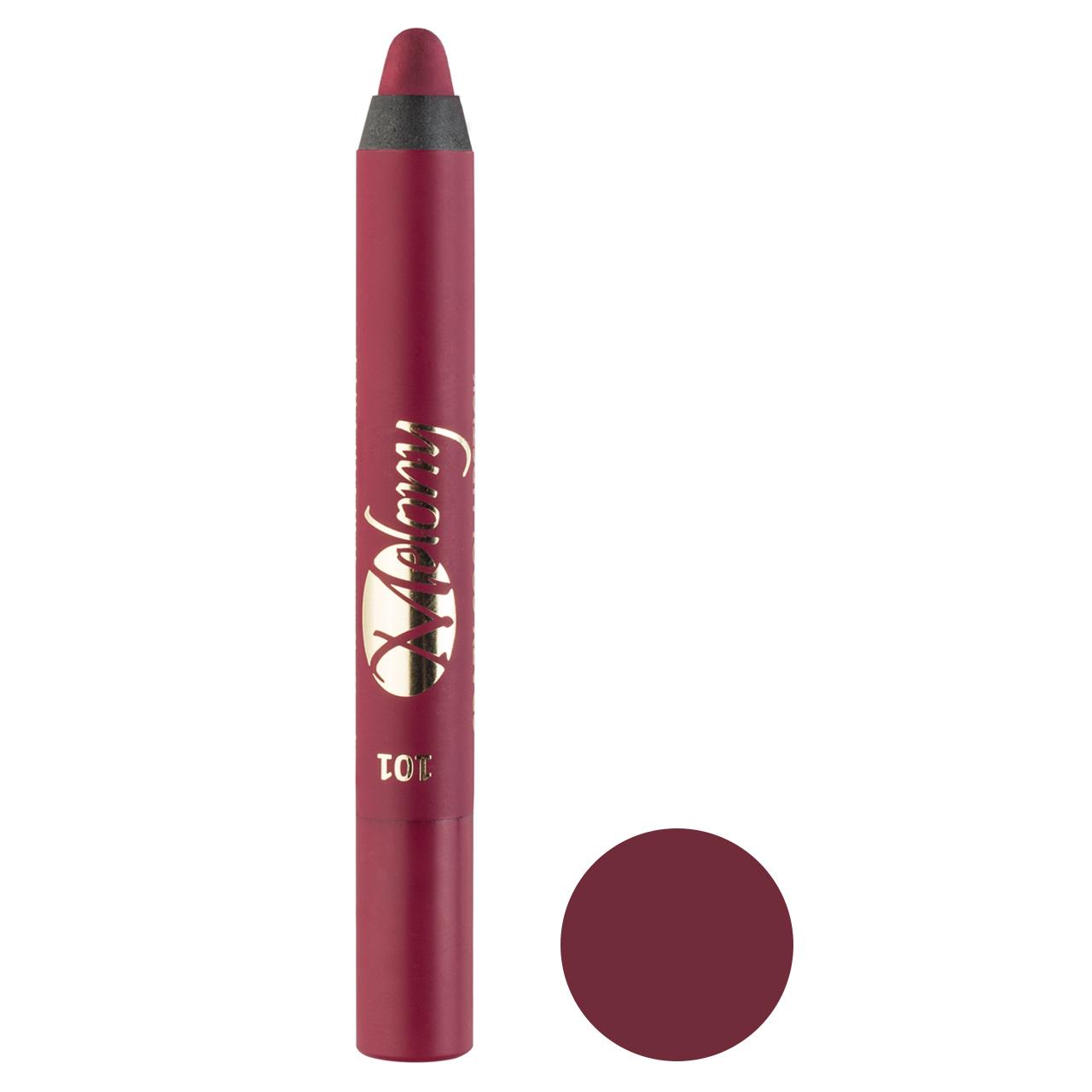 رژ لب مدادی ملونی مدل Crazy Cool شماره 101
