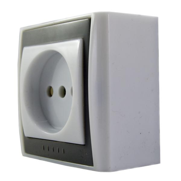 پریز برق روکار خیام الکتریک مدل صدف
