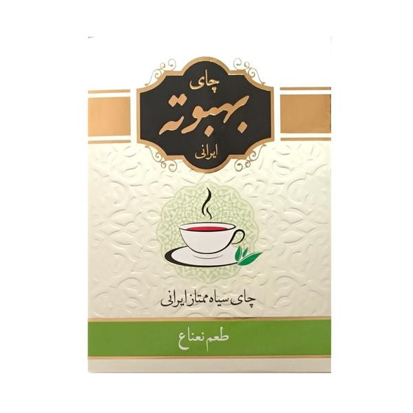 چای سیاه بهبوته با طعم نعناع مقدار ۴۰۰ گرم