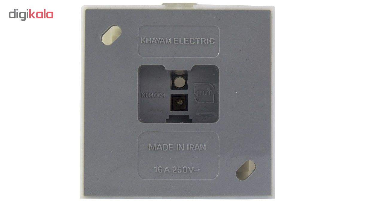 پریز برق روکار خیام الکتریک مدل صدف main 1 4