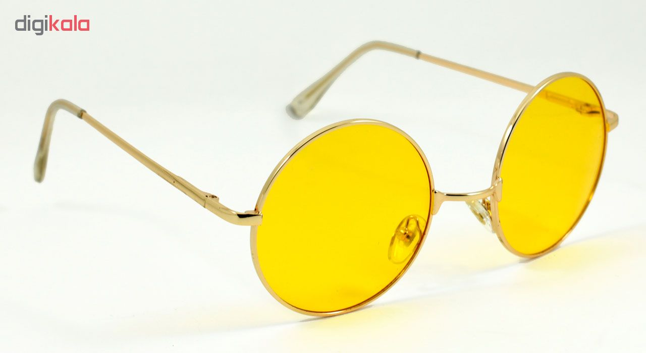 خرید                                      عینک آفتابی مدل Round Metal Yellow