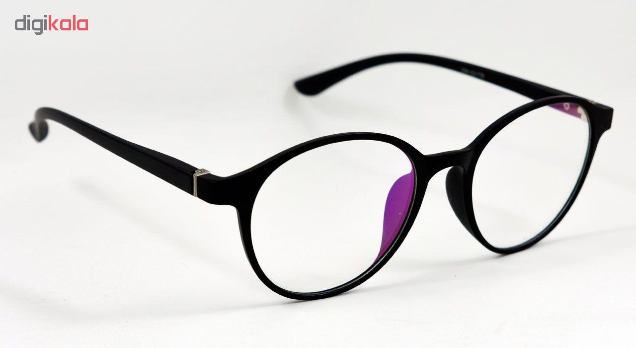 فریم عینک طبی مدل Tr90 Round Black Matte