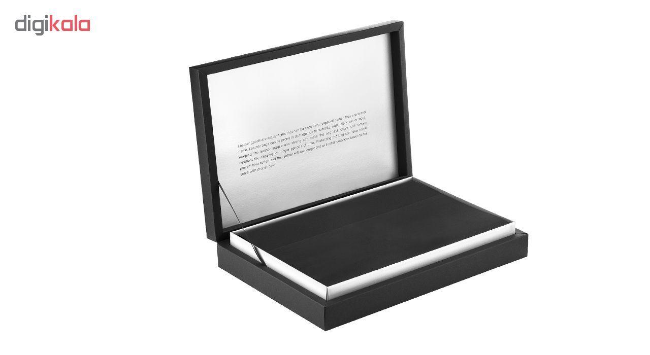 ست هدیه چرم دیبا کد LS1 قهوه ای  leather set