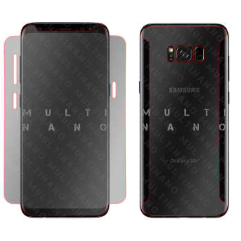 محافظ صفحه نمایش و پشت گوشی مولتی نانو مدل تی پی یو 5 دی مناسب برای گوشی موبایل سامسونگ گلکسی اس 8 پلاس