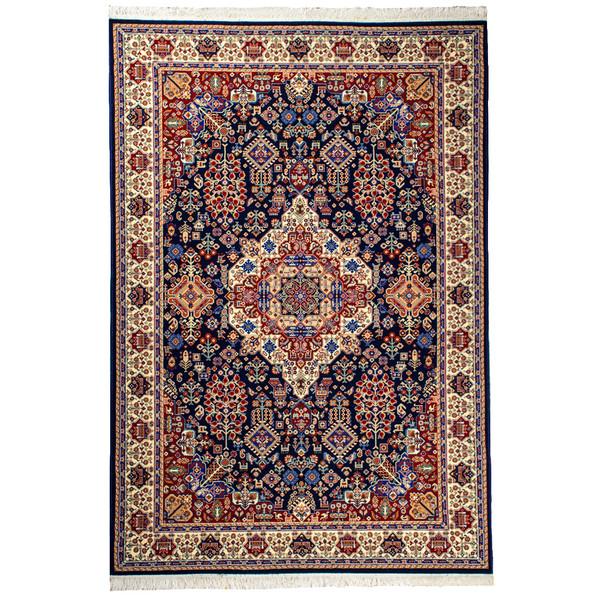فرش ماشینی سهند کد V105.DU زمینه سرمه ای ۷۰۰شانه