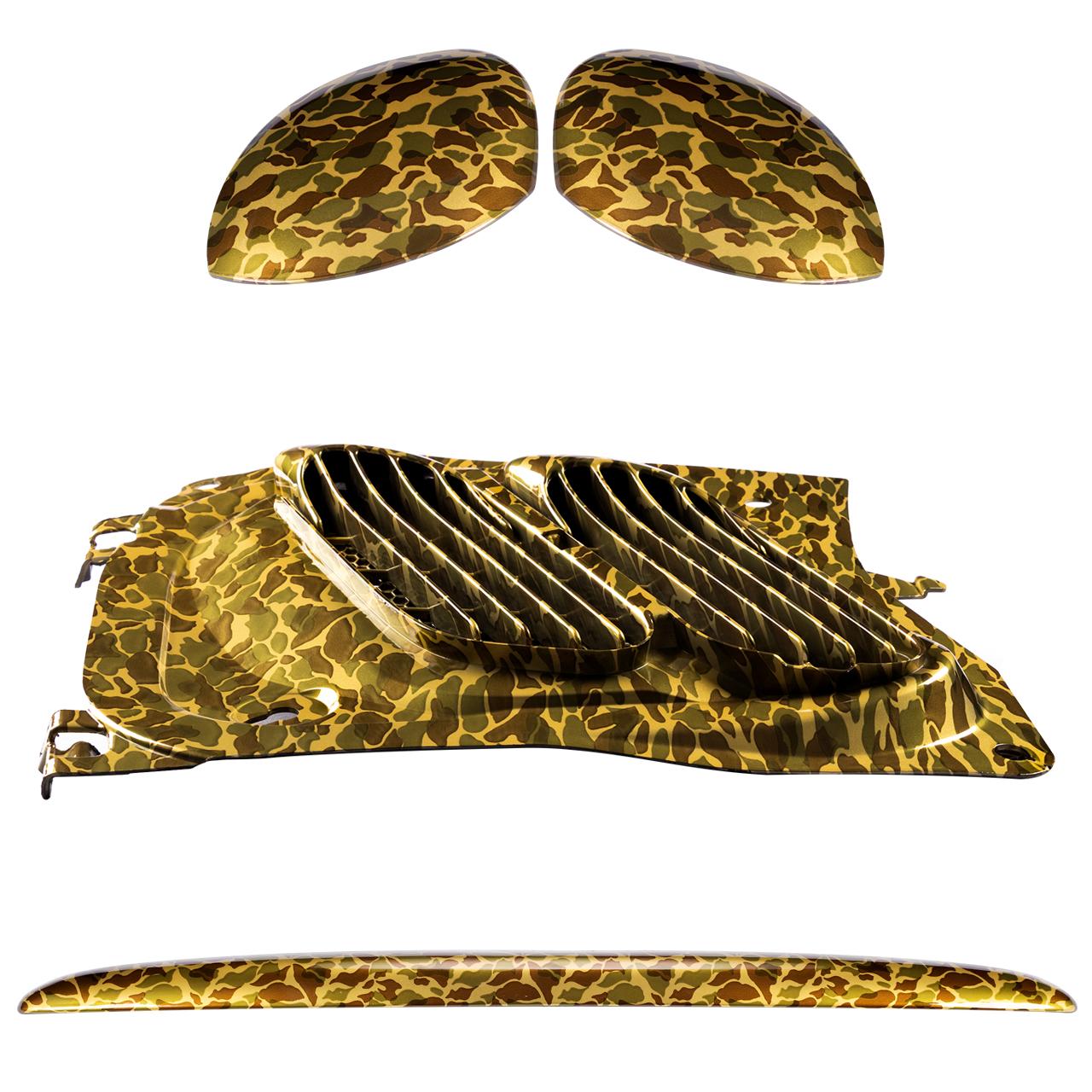 مجموعه تریم استیلا مدل Golden Army مناسب برای پژو 206